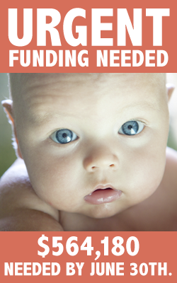 Urgent Funding Needed   $564,180 Needed by June 30th